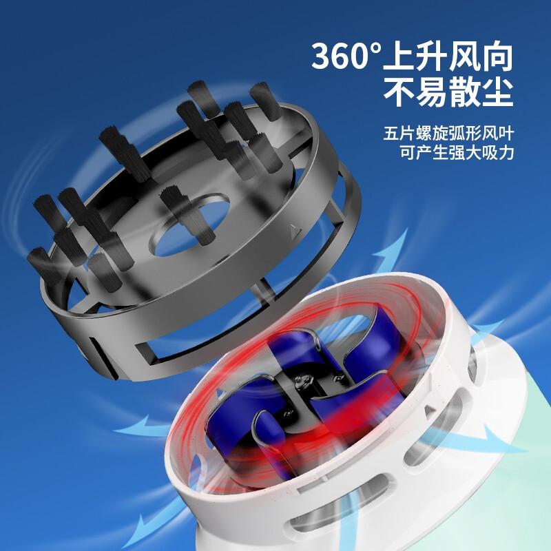 得力(deli)强吸力桌面吸尘器 迷你键盘除尘清洁助手 橡皮屑清洁器 办公用品 浅绿18880_http://www.chuangxinoa.com/img/images/C202101/1610076795036.jpg