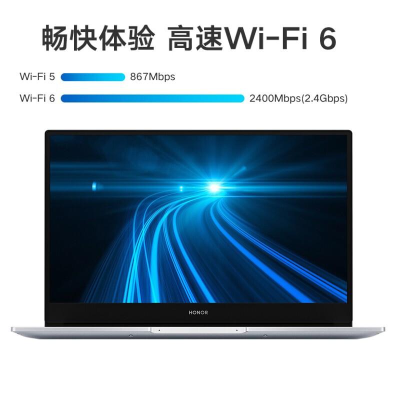 荣耀笔记本电脑 MagicBook 14 2021 14英寸全面屏/多屏协同/轻薄本(11代酷睿i5 1135G7 16G 512G 锐炬显卡)银【NobelDR-WFH9AHN】_http://www.chuangxinoa.com/img/images/C202104/1618390480340.jpg