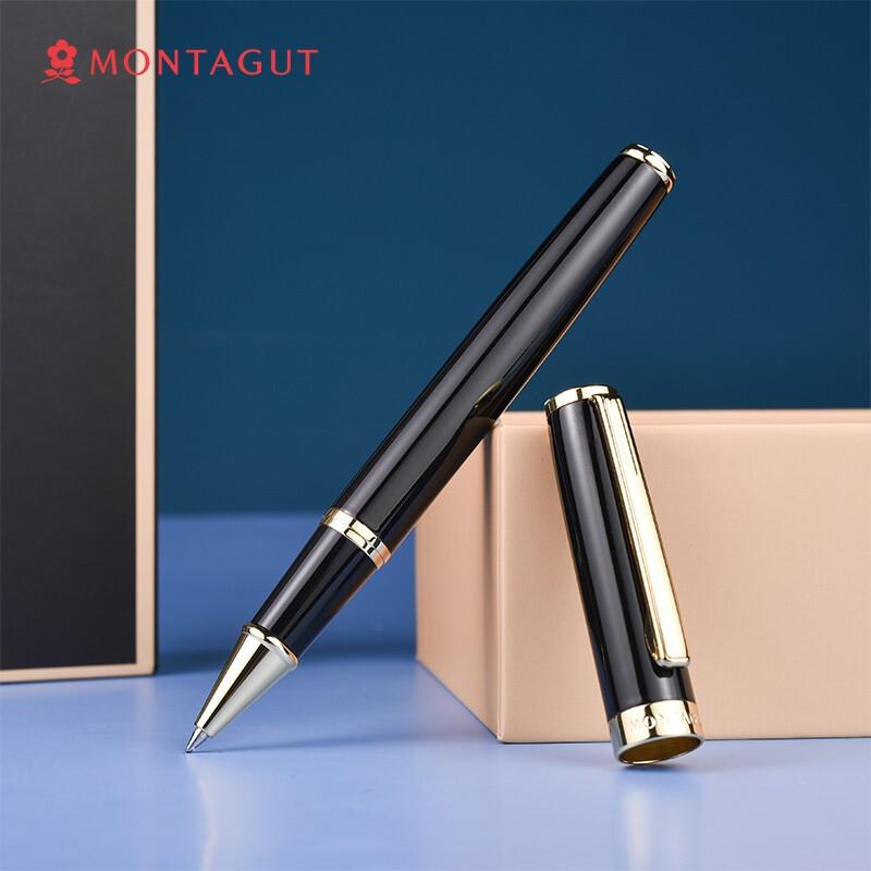 梦特娇(MONTAGUT)签字笔商务宝珠笔书写签名笔 礼遇系列 黑色金夹0.5mm_http://www.chuangxinoa.com/img/images/C202104/1618902023460.jpg